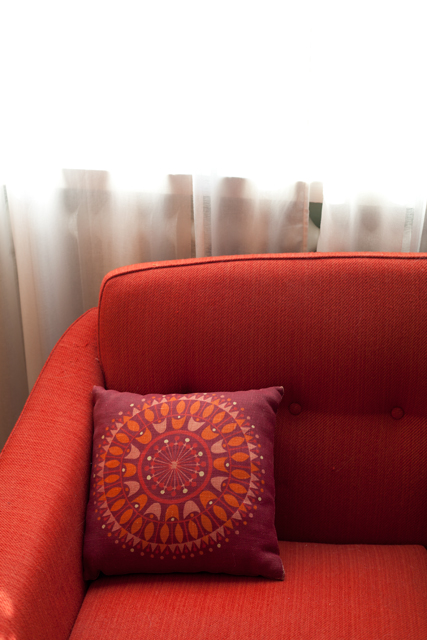 soffa-röd